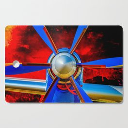 Blue propeller Cutting Board