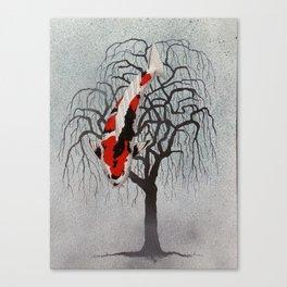 Japanese Koi Sanke Pendula Canvas Print
