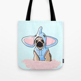 Pug Elephant Costume Tote Bag