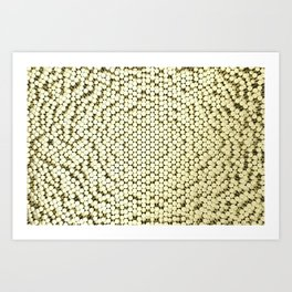Pattern of brushed gold cylinders Art Print