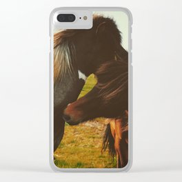 Untitled Horses Clear iPhone Case