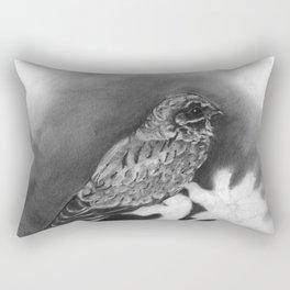White Winged Night-Jar Rectangular Pillow