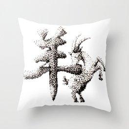 The Zodiac 12 - Goat Throw Pillow