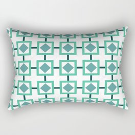 BOXED IN, TURQUOISE Rectangular Pillow