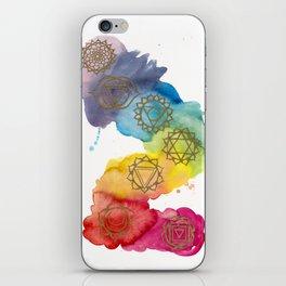 7 Chakras Watercolour Painting iPhone Skin