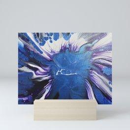 Sapphire Spin Mini Art Print