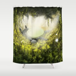 Totoro's Dream Shower Curtain