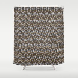 Tribal Waves Shower Curtain