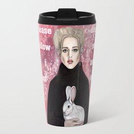 girl and rabbit Travel Mug