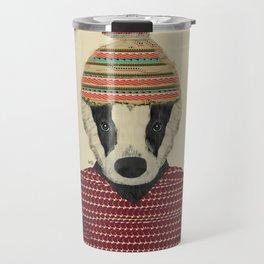 seb the badger  Travel Mug