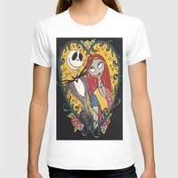 jack skellington T-shirts featuring Jack Skellington and Sally 2 by KittyOG