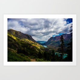 The valley and beyond Art Print