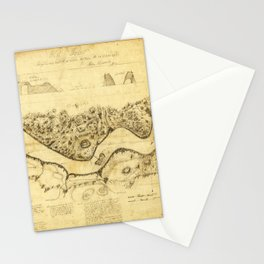 Original West Point Survey Map October 24th-27th 1783 Stationery Cards