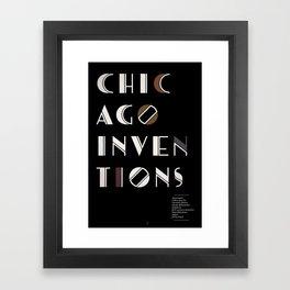 Chicago Inventions Framed Art Print