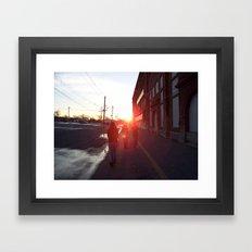 An Allentown Sunset Framed Art Print