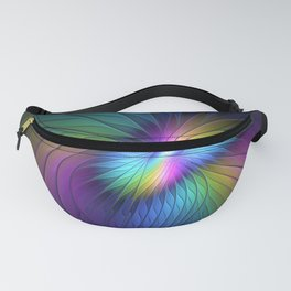 Colorful and Luminous, Abstract Fractals Art Fanny Pack