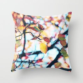 Happy Autumn Colors Throw Pillow
