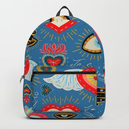 Milagro love hearts - blue Backpack