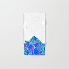 Blue Geometric pop art cool Hand & Bath Towel