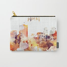 Phoenix City Skyline Carry-All Pouch