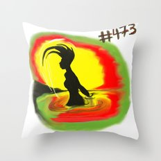 Woman, #473 Throw Pillow