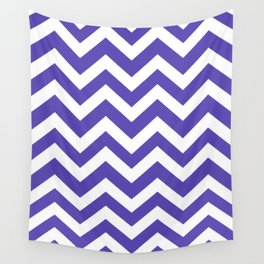Plump Purple - purple color - Zigzag Chevron Pattern Wall Tapestry