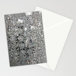 Silvery Glass and Mirrors Stationery Cards