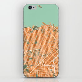 San Francisco city map orange iPhone Skin