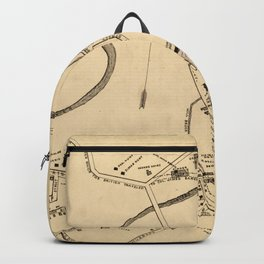 Vintage Battle of Concord Map (1875) Backpack