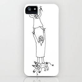 How Jesus helped me to win Satan during my first communion iPhone Case