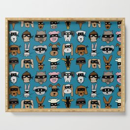 Ninja Animal Gang - Blue Serving Tray