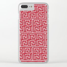 Oriental Symbol (Red & Silver) Clear iPhone Case