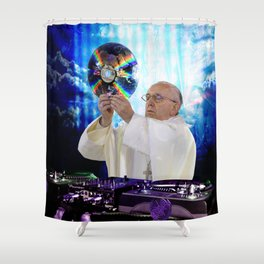 DJ Earth Pope Francis, EDM Holy Father Shower Curtain