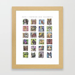Pet Compilation Framed Art Print