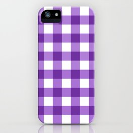 Purple Buffalo Check - more colors iPhone Case