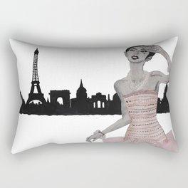 Fashion Illustration Alexa paris pink gown  Rectangular Pillow
