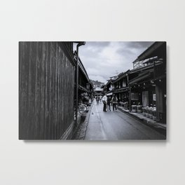 Old Japan Monochrome Metal Print