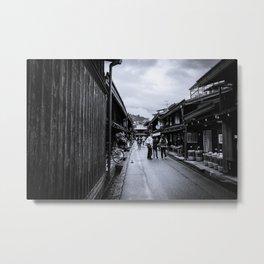 Old Japan Monochrome Metal Print