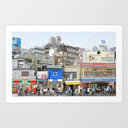 Tokyo Moods Art Print