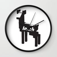 lamb Wall Clocks featuring LAMB by MDRMDRMDR