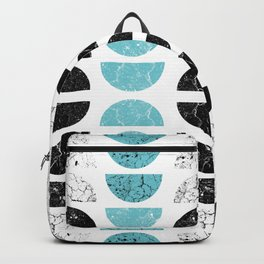 Marble Half-Moons in Tiffany Blue Backpack
