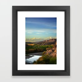 At The End Of The Day Framed Art Print
