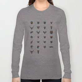 Alphabetical Menagerie Long Sleeve T-shirt