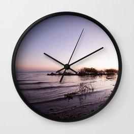 Morning on the lake Wall Clock