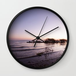 Morning on the lake Wall Clock