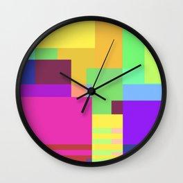 Colorful Retangles 2 Abstract Art Pattern Digitalart Home Decor Gift Wall Clock