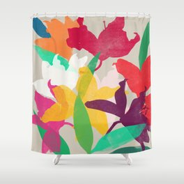 lily 19 Shower Curtain