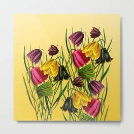 Fritillaria Flowers Metal Print