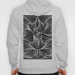 Black And White Line Drawing Illusion Art Hoody