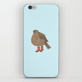 Bird with Boots iPhone Skin